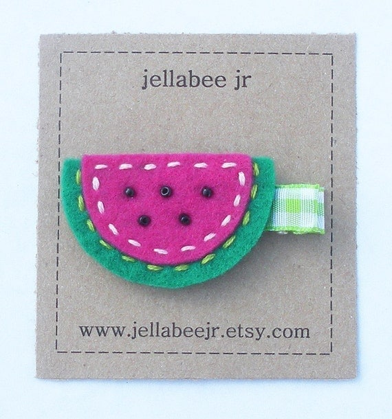Felt Clip / Watermelon Slice
