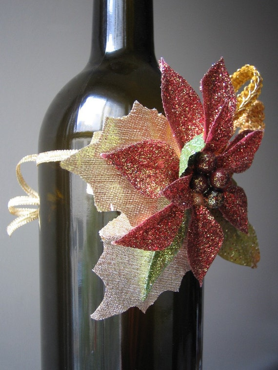 all that glitters wine bottle corsage