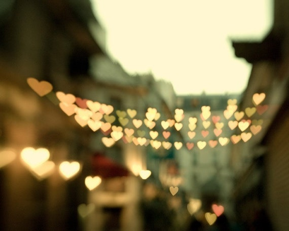 Paris photography, Hearts in Street, Valentine, Romantic, Love - Looking for love - Dreamy travel photography