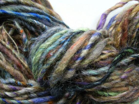 Millie handspun art yarn silky rustic singles