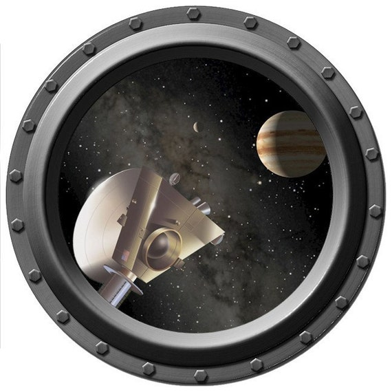 Jupiter Seen Through A Porthole Vinyl Wall Decal
