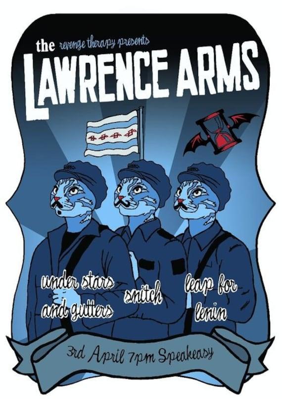 lawrence arms punk band propaganda cat poster