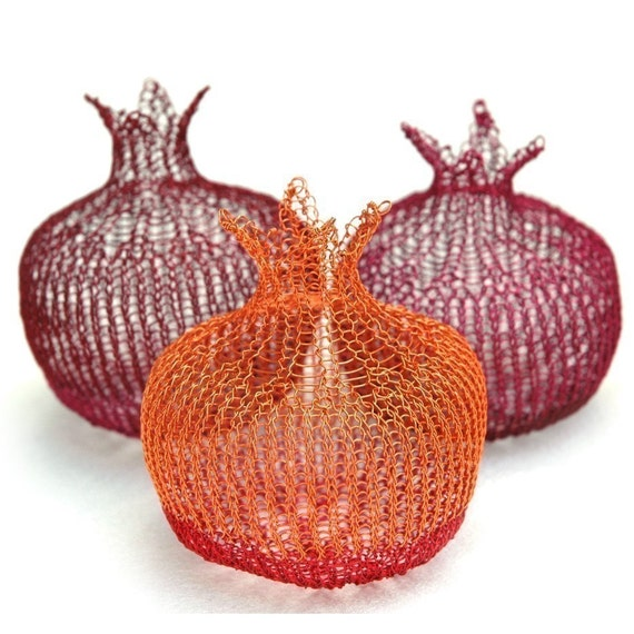 Wire pomegranate instructions -wonderful gift for house warming