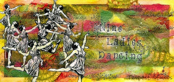 9 Ladies Dancing Limited Edition Reproduction