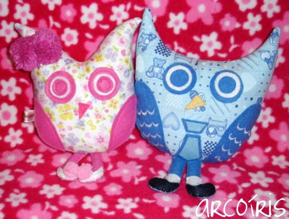 A pair of CUTE owl plushies Help Japan Donation Drive