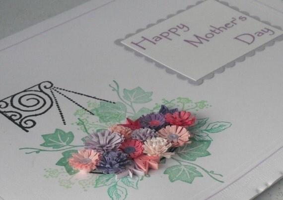 День ручной гофрированный Матери карты с красивыми рюш