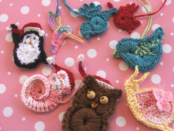 PATTERNS - 8 Animal Appliques Including Cat, Owl and Penguin