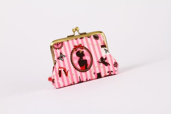 Diam pouch - Girly room - metal frame purse