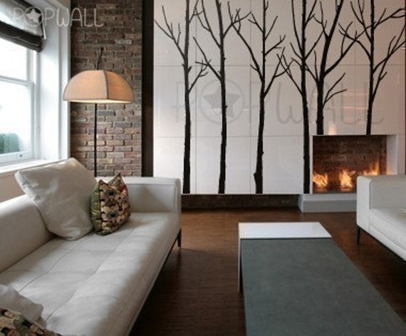 Tree  Wall Decals Wall Stickers Winter Trees - 036