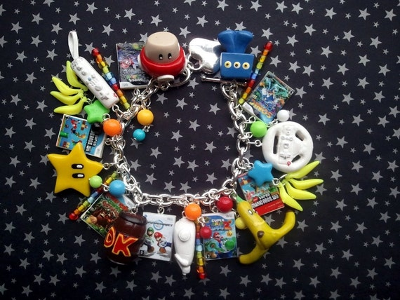 Wii Video Game Charm Bracelet