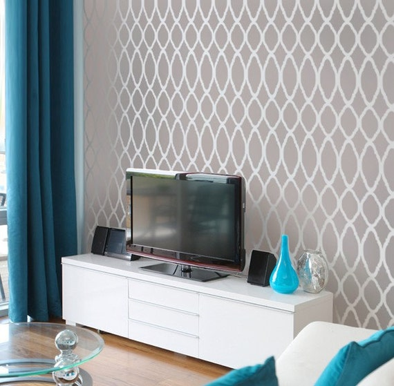 Moroccan Stencil Zagora - reusable stencils for walls instead of wallpaper