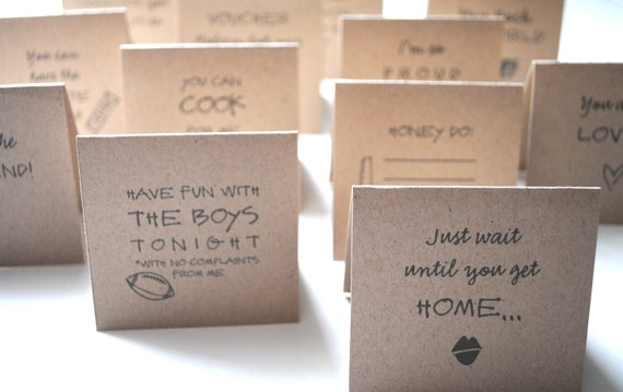 Lunch Love Notes - ADULT Manly Version - Set of 20