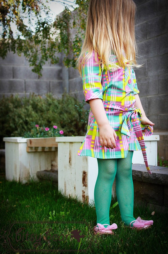 Pre-order- Easter Plaid Tie Dress for baby, toddler, and girl