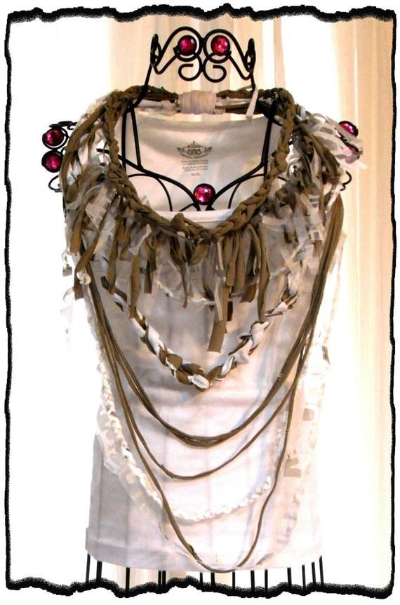 Веселые Ретро бахромой заявление ожерелье Boho Стиль Хиппи шик Земной Fringe ожерелье Прихоть французский рынок