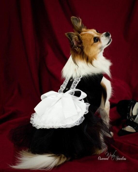 Французская горничная собак Туту Harness собак платье - Хеллоуин костюм