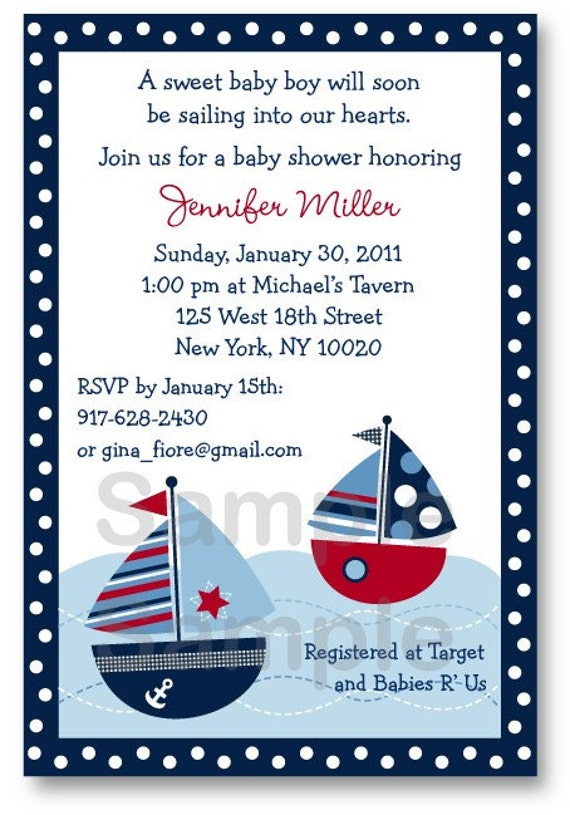photos of Nautical Baby Shower Invitations