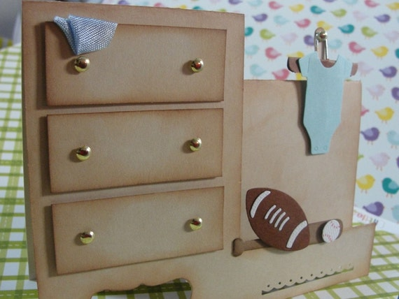 Adorable Little Boy Side Step Dresser Card