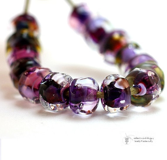 DEAL of the DAY Glass lampwork beads Grape Escape Organics handmade for artisan jewelry design