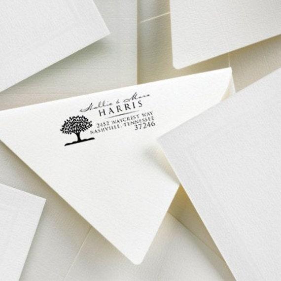 Custom Self Inking Address Stamp - Seedling