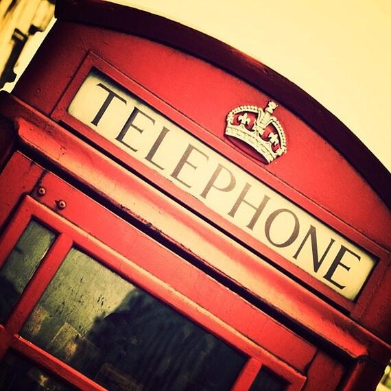 Туристическая фотография-Лондон Англия-доступное домашнего декора-Бут-малиновые розы граната кирпично-красный телефонной будки в Лондоне-8x8