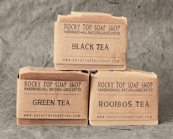 Tea Soap Set -  All Natural Soap, Handmade Soap, Cold Process Soap, Unscented Soap