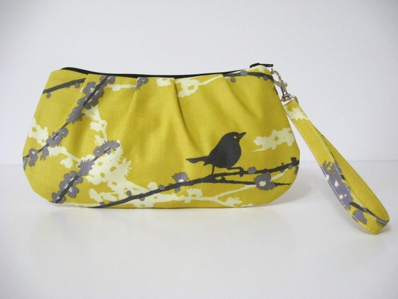 Sweet Pea Zip and Go Wristlet / AVIARY 2 by Joel Dewberry