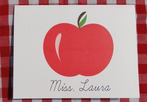 Red  Apple Notecards