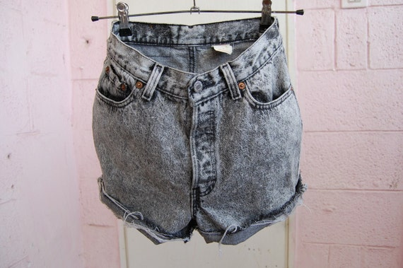 late 70s' washed black levis cut offs size 27""