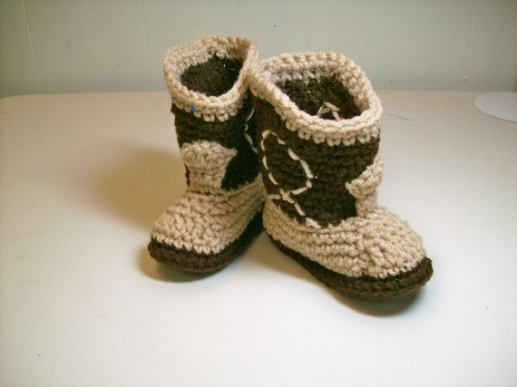 Cowboy Baby  Booties -  Two-Tone Brown  -  PLEASE SELECT SIZE