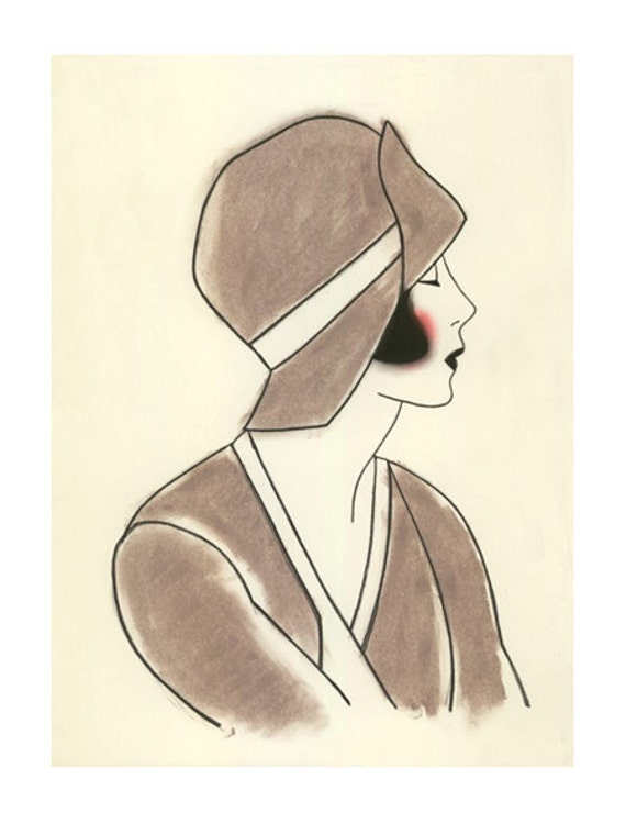 Rebecca Likes Online Shopping Etsy Finds Of The Day Art Deco Girl Paintings From Matouenpeluche