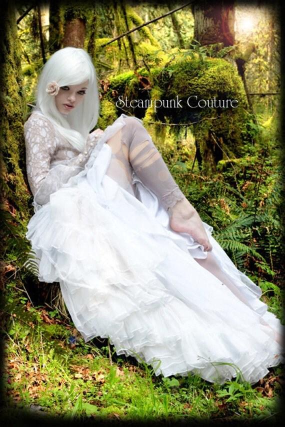Steampunk Couture Dress Steampunk Couture White Steam