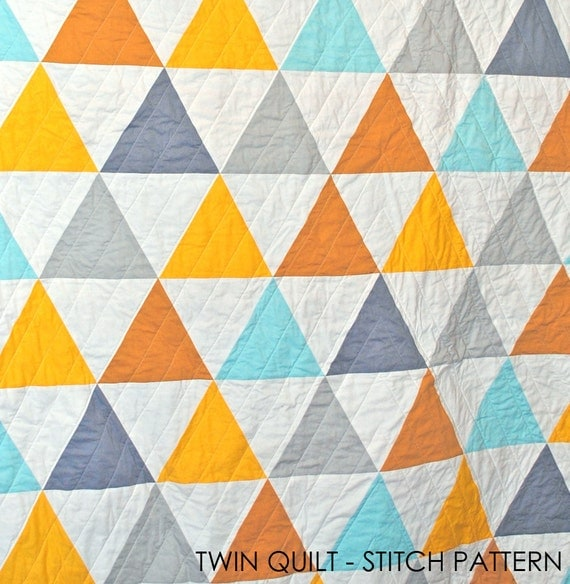 Equilateral Triangles Twin Quilt (MADE TO ORDER)