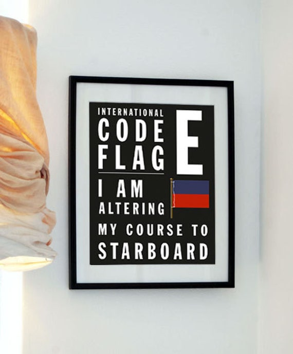 Letter E - Bus Roll International Code Flag - I am altering my course to starboard