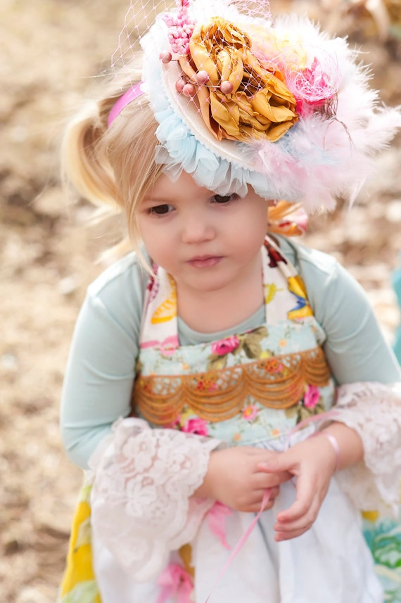 JUST FOR FUN Lacey hairpiece for special occasions and photo shoots,circus, pagents, babies, parties