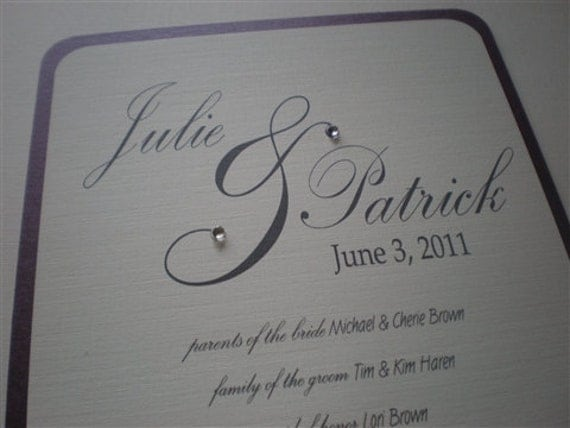 DIY Wedding Program Fan From 2CuteNot2Share