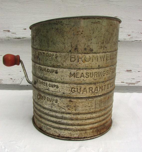 Vintage Flour Sifter Bromwells Treasury Item