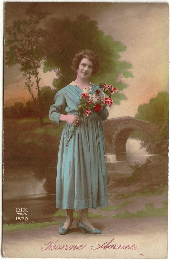 Мария-Антуанетта - Bonne Année - Vintage Открытка