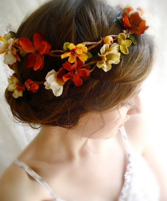 autumn harvest hair wreath