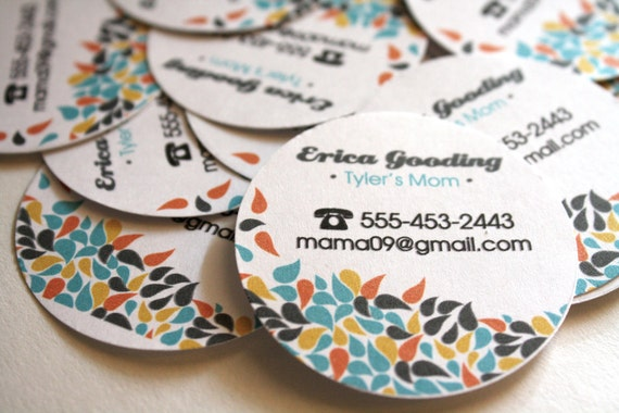 Mommy Calling Cards Playdate cards Custom Printed  60 qty in a tin container