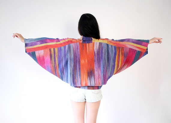 vintage woven cotton ikat jacket