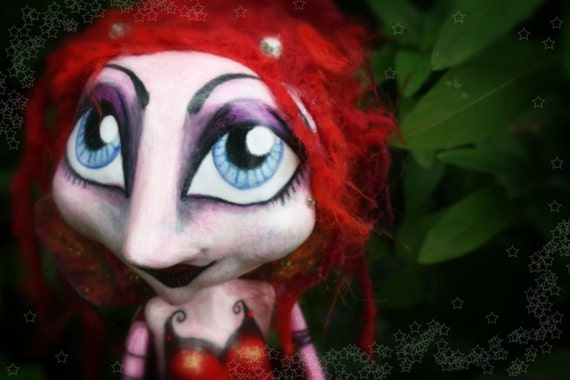 Special Item of the Day - Antonia - Faerie of Passion - OOAK Art Doll