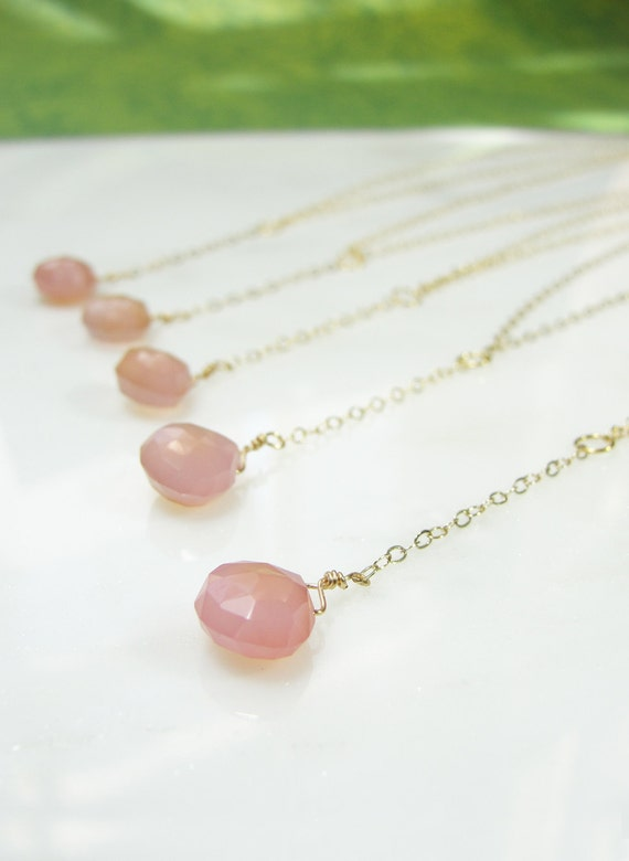 Multiple bridesmaids necklaces