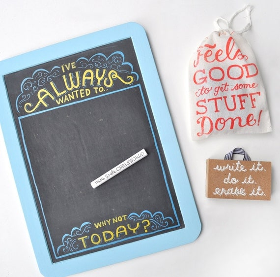 Mini Goals Chalkboard - Always Wanted To