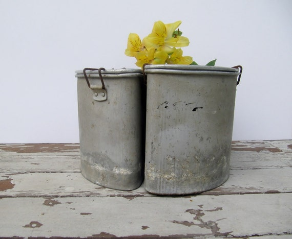 Set of Vintage Triple Pots