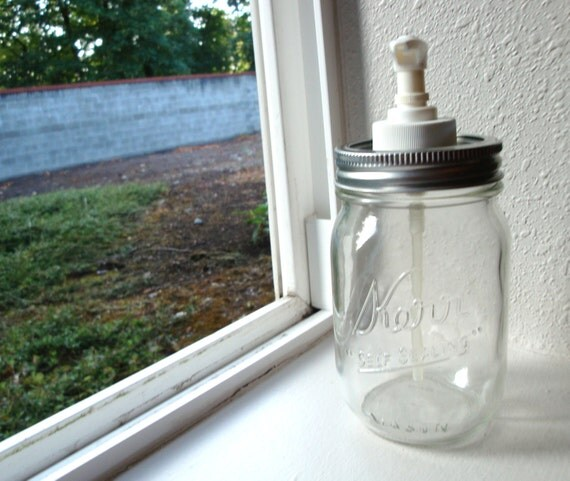 Pint Soap or Lotion Dispenser Mason Jar - SALE