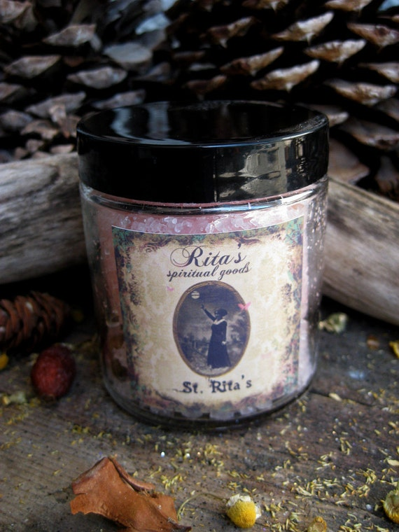 Rita's Saint Rita Ritual Bath Dead Sea Salts - Impossible Wishes and Causes