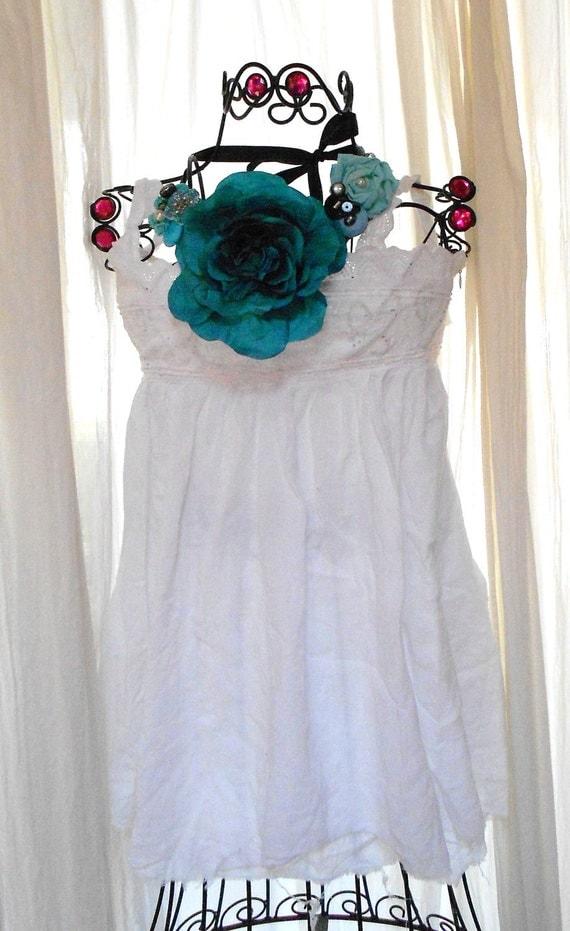 Дом заявление ожерелье Страна Chic Полукомбинезон ожерелье Сельский свадебных украшений Tiffany Blue огромные розы ювелирных изделий