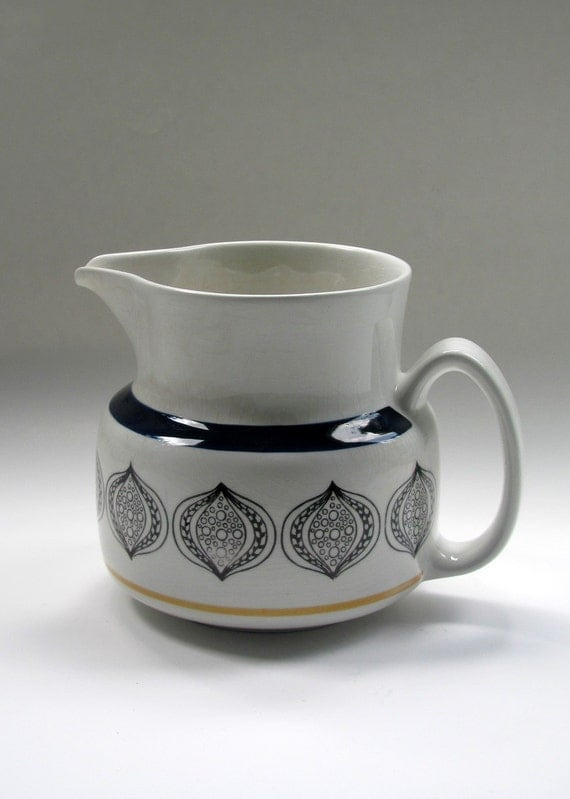 Vintage Swedish Pitcher by Upsala Ekeby