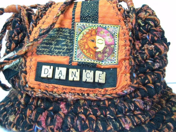 Orange and Black Dance Bag