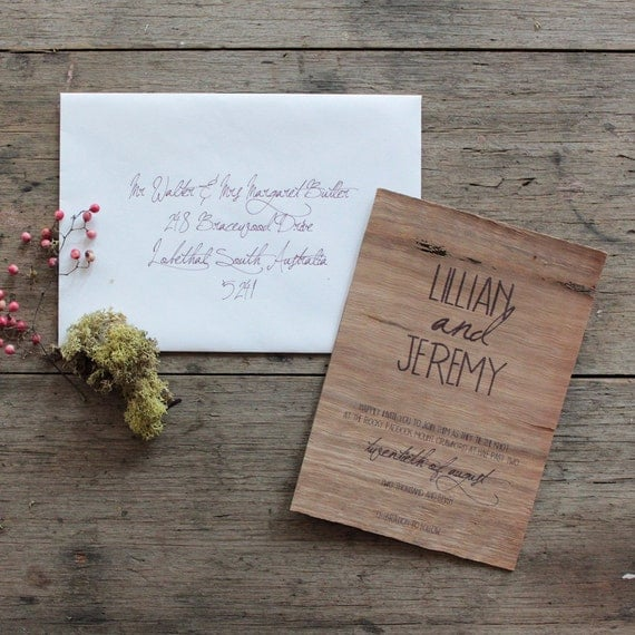 Oberon wedding invitation suite